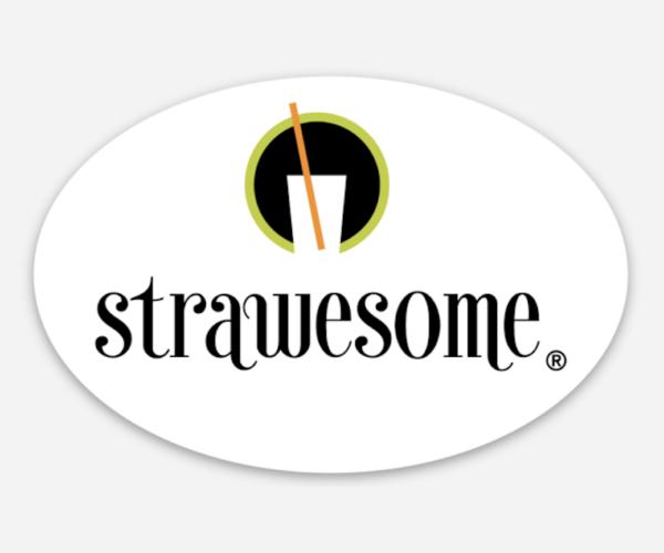 Strawesome Oval Sticker
