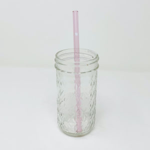 Loving Heart Glass Straw