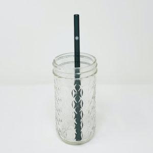 Snowflake Glass Straw