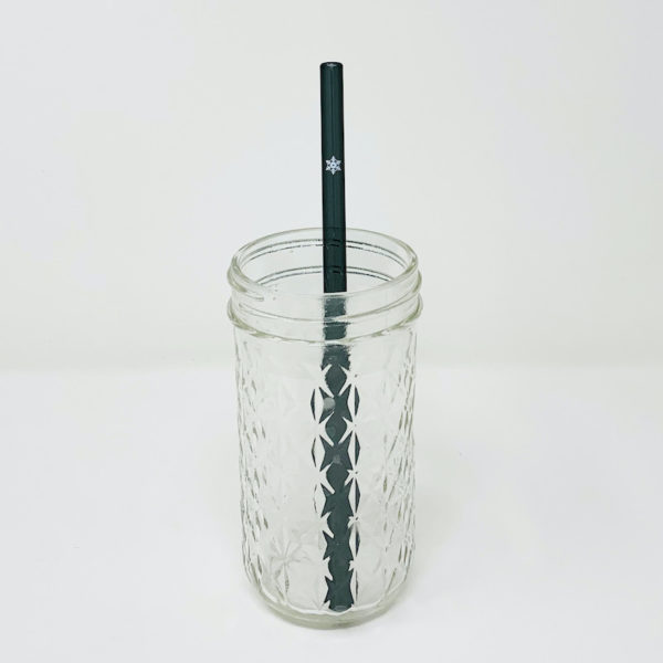 Snowflake Glass Straw