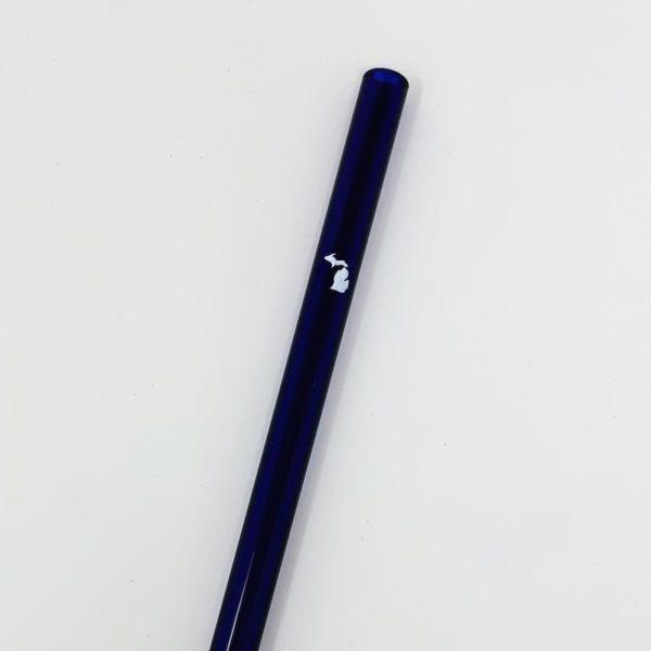 Michigan Blue Glass Straw