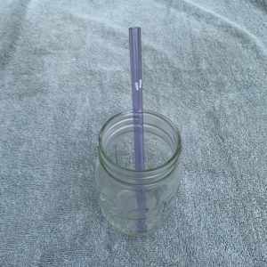 Glass Straw with Flip Flops Graphic